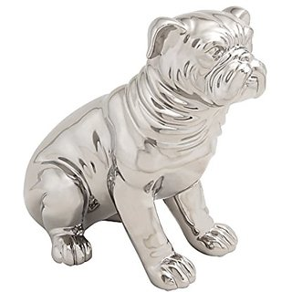 Benzara Lovable Ceramic Dog Sculpture