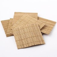 Package Of 40 Eco Friendly Bamboo Coasters For Home, Office And Parties