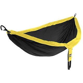 Eagles Nest Outfitters - DoubleNest Hammock, Black/Yellow (FFP),One Size