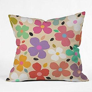 DENY Designs Garima Dhawan Dogwood Vintage Throw Pillow, 16 x 16