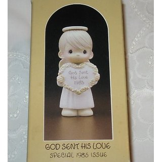 Precious Moments God Sent His Love Figurine 1985