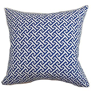 The Pillow Collection Quentin Geometric berry Pillow, 20