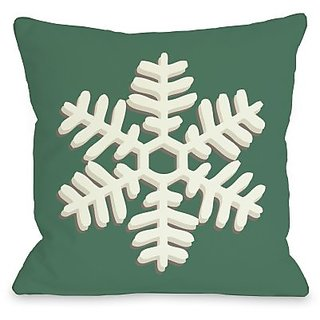 Bentin Home Decor Single Snowflake Throw Pillow by OBC, 26