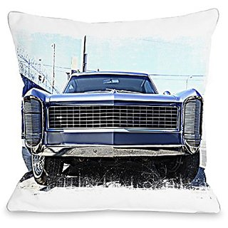 Bentin Home Decor 12793PL18Z Classic Car Pillow with Zipper, Multi, 18 by 18-Inch