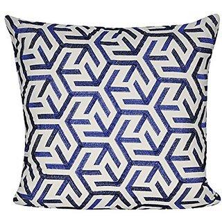 BR &Nameinternal P0563-2222P Blue Sun Geo Decorative pillow