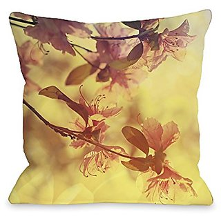 Bentin Home Decor Delicate Flower Throw Pillow w/Zipper by OBC, 18