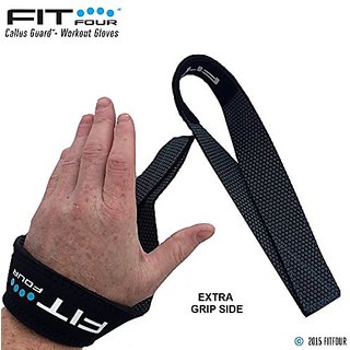 Fit Four F4T Triangle Weightlifting Strap, Reversible Grip, Black and Grey,