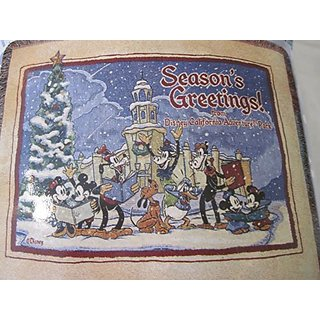 Disney Californias Adventure Park Woven Seasons Greeting Throw