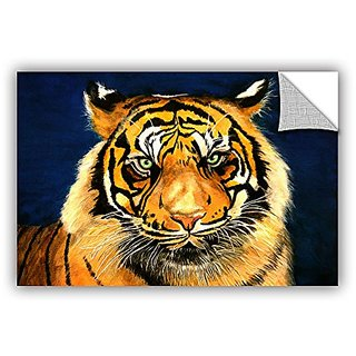 ArtWall Lindsey Janichs Tiger by Lins Appeelz Removable Graphic Wall Art, 16 by 24