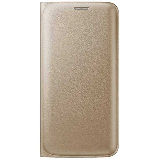 Limited Edition Golden Leather Flip Cover for Lava A72