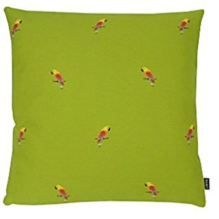 parrots lime - 18x18 Pillow