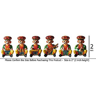 Little India Rajasthani 6 Piece Musician Bawla Set in Wood -206