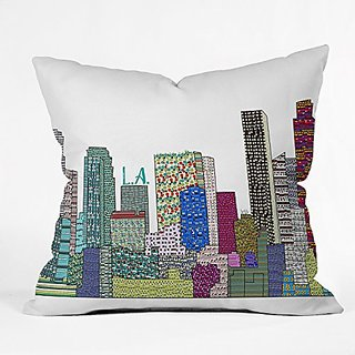 DENY Designs Brian Buckley LA City Throw Pillow, 18 x 18