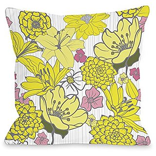 Bentin Home Decor Oriental Flowers Throw Pillow by OBC, 16