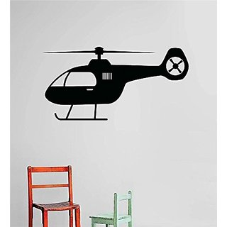 Design with Vinyl Cryst 572 1286 Black Helicopter Aircraft Boys Kids Children Vinyl Wall Decal Art Home Decor Bedroom Li
