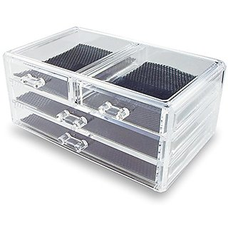 Ikee Design Acrylic Jewelry & Cosmetic Storage Display Box 9 3/8