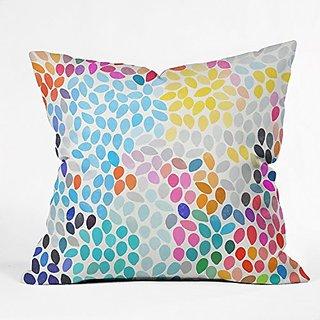 DENY Designs Garima Dhawan Rain 9 Throw Pillow, 16 x 16