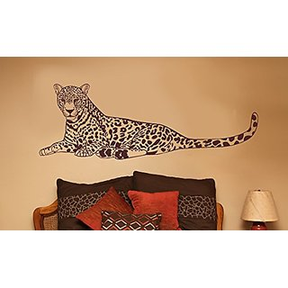 Wall Decor Plus More WDPM3111 Large Cheetah Jungle Animal Wall Decal Vinyl Sticker, 20x58-Inch, Chocolate Brown