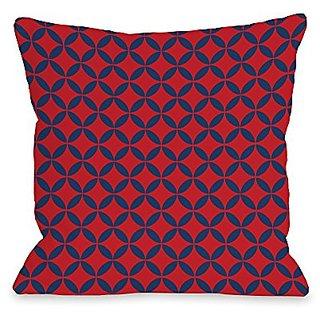 Bentin Home Decor Abegayle Geo Throw Pillow w/Zipper by OBC, 18