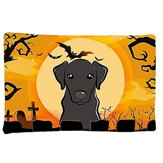 Carolines Treasures BB1793PILLOWCASE Halloween Black Labrador Fabric Standard Pillowcase, Large, Multicolor