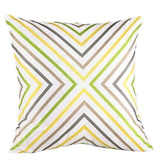 Trina Turk Ikat Zigzag Embroidered Decorative Pillow, 20 by 20-Inch, Yellow/Grey