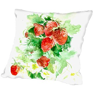 American Flat Strawberries Pillow by Suren Nersisyan, 16