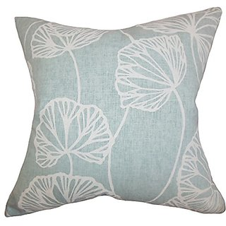The Pillow Collection Fia Floral Pillow, Blue