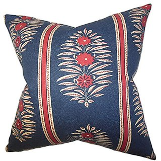 The Pillow Collection Ginevra Floral Pillow, Blue