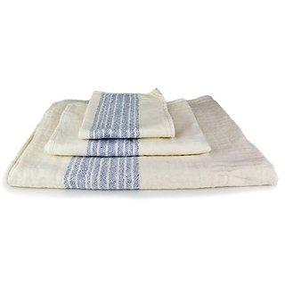 Kontex Organic Cotton Towels From Imabari, Japan - Blue (Set of 3 Towels)