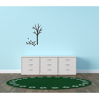 Design with Vinyl Black - Star 1176 Tree Leaves On Ground Home Decor Bedroom Living Room Vinyl Wall Decal, 22-Inch x 30