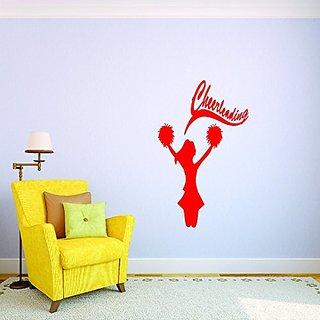 Design with Vinyl JER 128 1 Cheerleading Cheerleader Pom Pom Sports Personalized Custom Girl Team Childrens Bedroom Viny