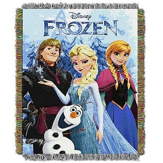 Disney Frozen- Frozen Fun Triple Woven Jacquard Throw (48x60in. )in.