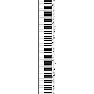 JP London uStrip Lite UCLT9038 Prepasted Mural Amadeus Mozart Piano Keys Concerto, 8.5-Feet by 1.5-Feet