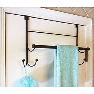 BathSense Over the Door Hook/Towel Bar Combo, Oil Rubbed Bronze