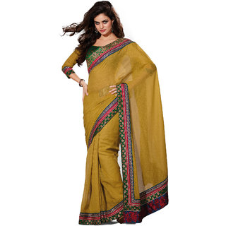 Fabdeal Olive Green Colored Khadi Silk Embroidered Saree CSS107007BSWGT