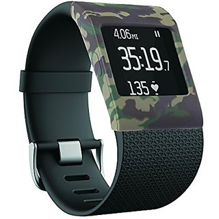 Silicone Band Cover for Fitbit Surge Fitness Superwatch, Larg&Small (camouflage),