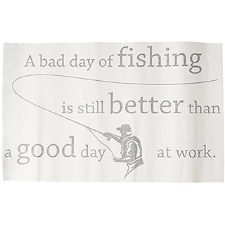 A bad day of fishing is still better than a good day at work. Vinyl Wall Decals Quotes Sayings Words Art Decor Lettering