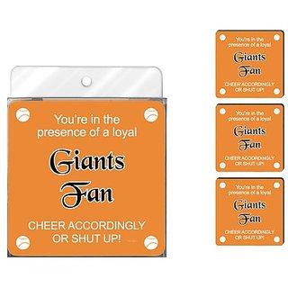 Tree-Free Greetings NC38100 Giants Baseball Fan 4-Pack Artful Coaster Set