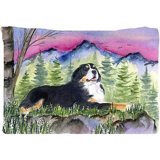 Carolines Treasures SS8332PILLOWCASE Bernese Mountain Dog Moisture Wicking Fabric Standard Pillowcase, Large, Multicolor