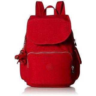 Kipling Ravier Medium Flapover Backpack Cherry,One Size