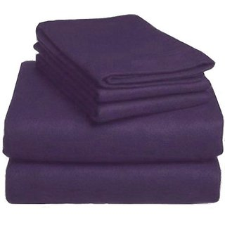 MARRIKAS HEAVYWEIGHT 6 OZ or 200 GSM FLANNEL DUVET COVER SET TWIN TWIN EXTRA LONG PLUM
