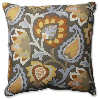 Pillow Perfect Dynasty Frost 25-Inch Floor Pillow