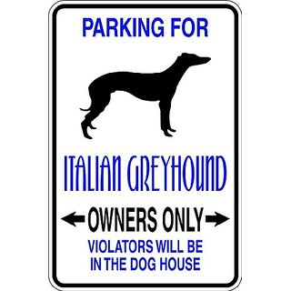 Design With Vinyl Design 663 Parking for Italian Greyhound Vinyl 9 X 18 Wall Decal Sticker