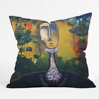 DENY Designs Robin Faye Gates Forest for Trees Throw Pillow, 26-Inch by 26-Inch