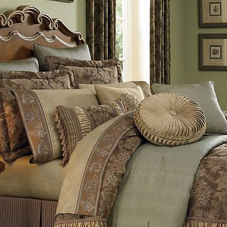 Croscill Home Fashions Marcella Square Pillow, 18 x 18-Inch, Taupe, Floral