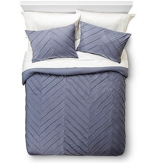 Room EssentialsTM Pieced Chevron Mini Comforter Set - Indigo - King