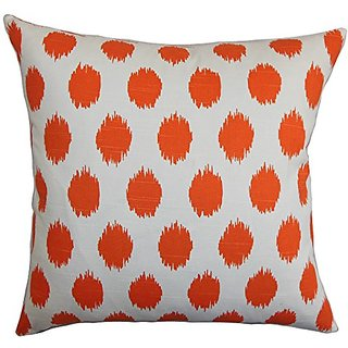 The Pillow Collection P20-PP-JOJO-TANGELO-C100 Kaintiba Ikat Pillow, Orange, 20