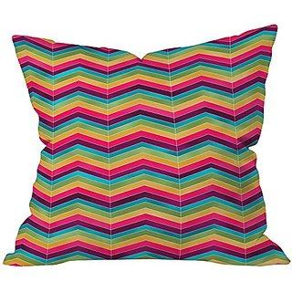 DENY Designs Lara Kulpa Chevron Brights Throw Pillow, 18 x 18