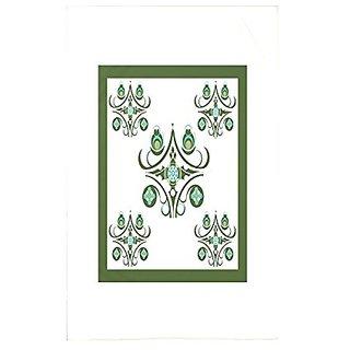 E by Design Hanky Print Geometric Print Throw Blankets, 50 X 60-Inch, Mistletoe
