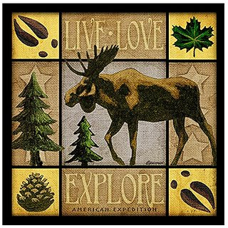 Lodge Series Moose Set of 4 Stone Coasters